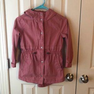 Twill Hooded Field Jacket for Girls